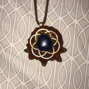 Lapis lazuli thirdeye pinecone medium handmade